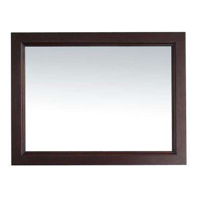 Kathy 28 in. x 36 in. Framed Wall Mirror in Chocolate
