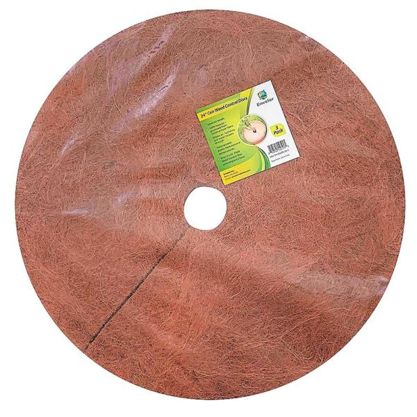 0.3 in. x 24 in. Coconut Fibers Mulch Tree Ring Protector Mat (3-Pack)