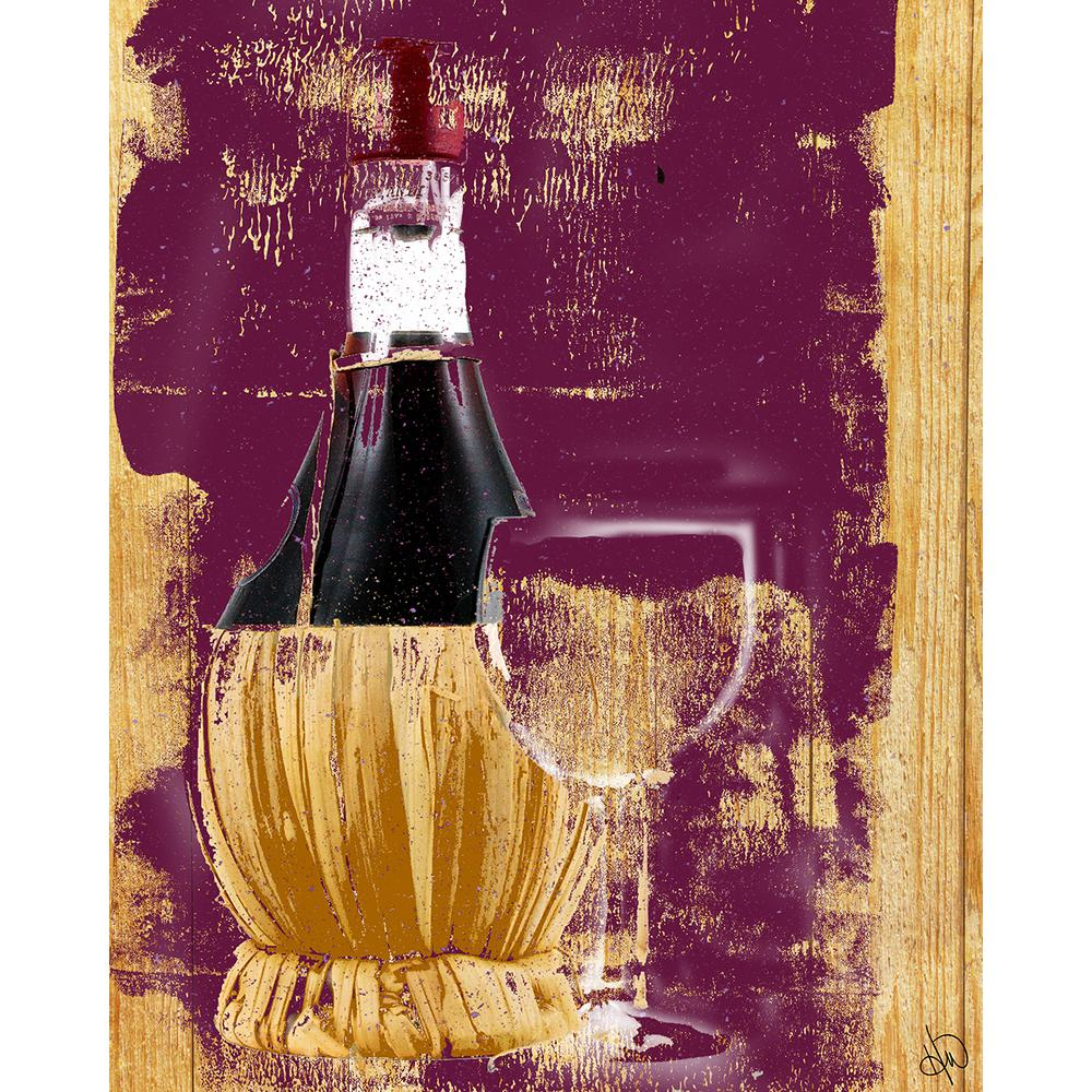 "20 in. x 24 in. ""Plum Wine Set"" Wrapped Canvas Wall"