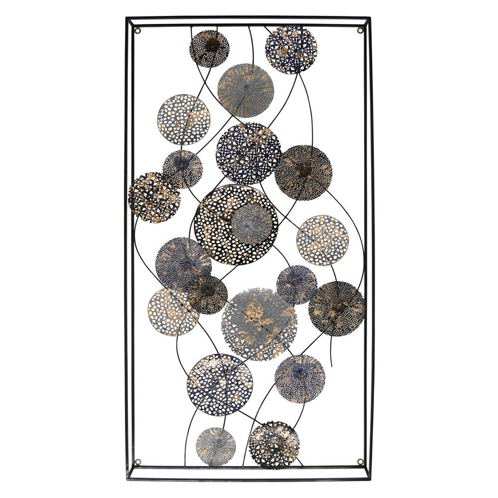Blue Metal Wall Decor Alluring Three Hands Blue Metal Wall Decor96369  The Home Depot 2018