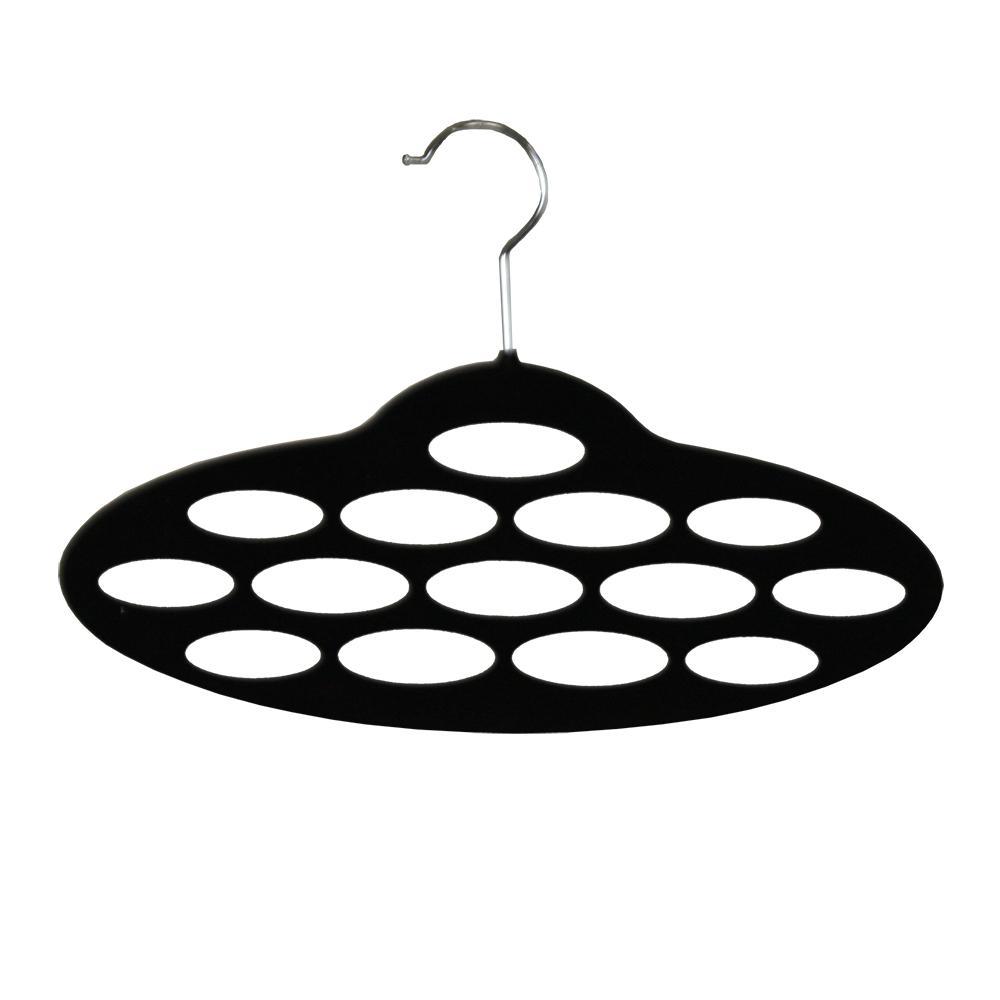 Black Velvet Scarf Hanger (10-Pack)