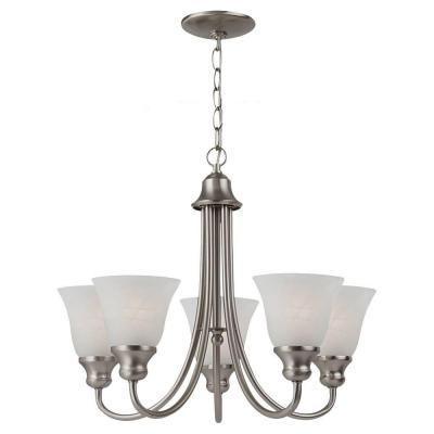 Windgate 5-Light Brushed Nickel 1-Tier Chandelier