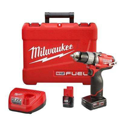 M12 FUEL 12-Volt Cordless Brushless 1/2 in. Drill/Driver Kit