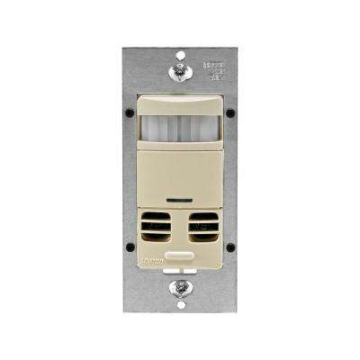 Dual-Relay Multi-Technology Wall Switch Motion Sensor, Ivory
