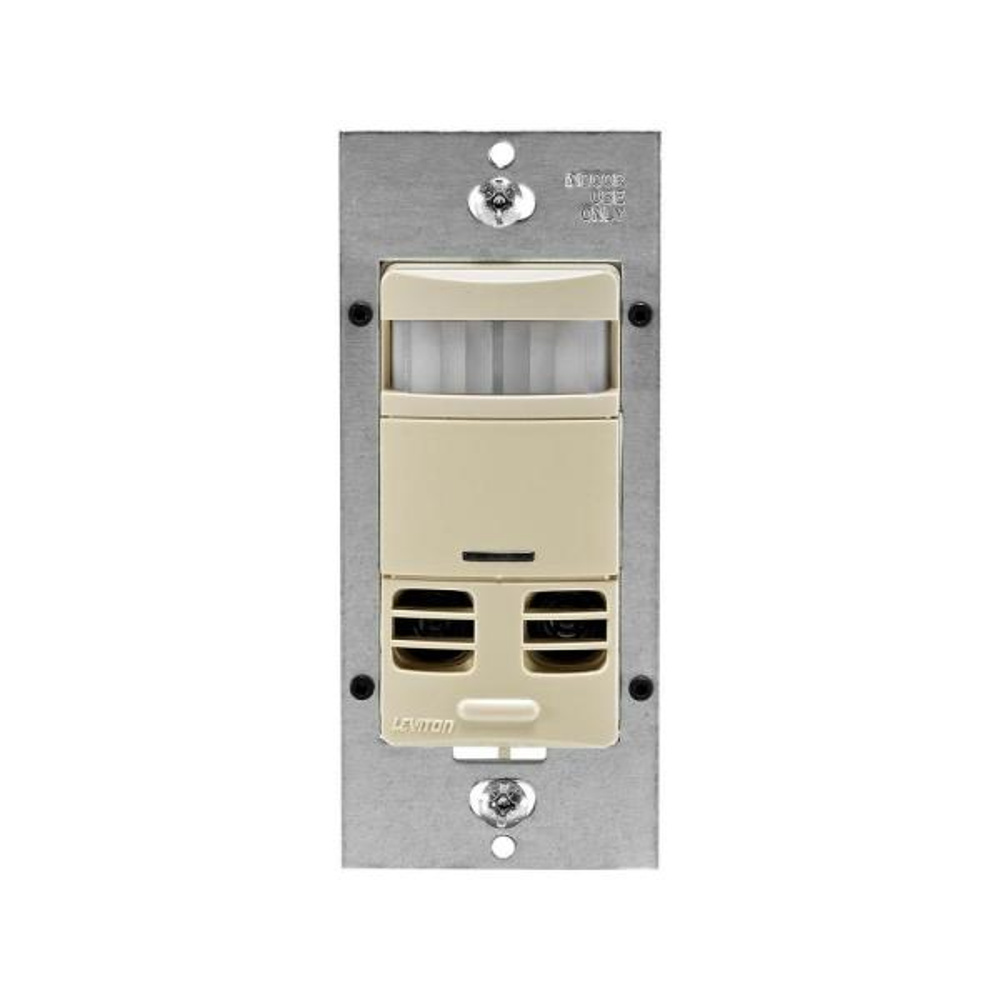 Dual-Relay Multi-Technology Wall Switch Motion Sensor, Ivory
