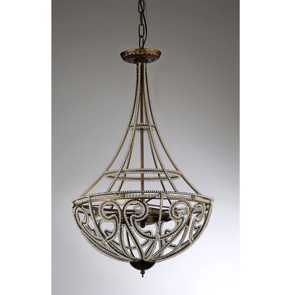 Warehouse of Tiffany Hercules Scale 4-Light Antique Bronze Chandelier with  Shade - Warehouse Of Tiffany Hercules Scale 4-Light Antique Bronze