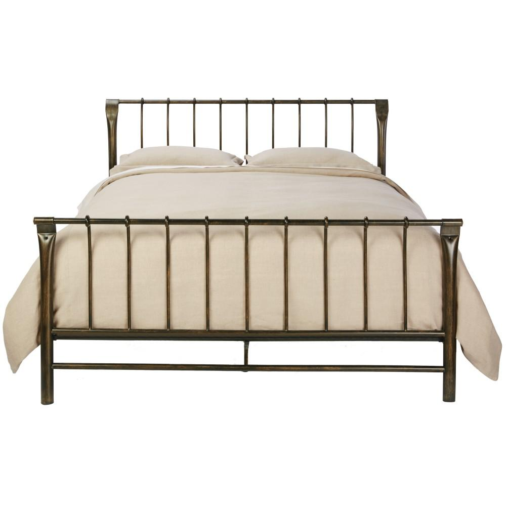 Home Decorators Collection Marquette Antique Brass King Sleigh Bed 9510010230 The Home Depot