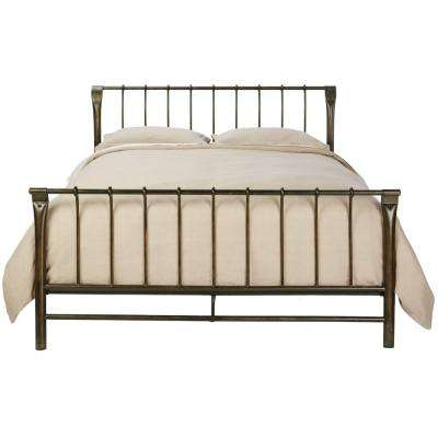 Ordinaire Marquette Antique Brass King Sleigh Bed