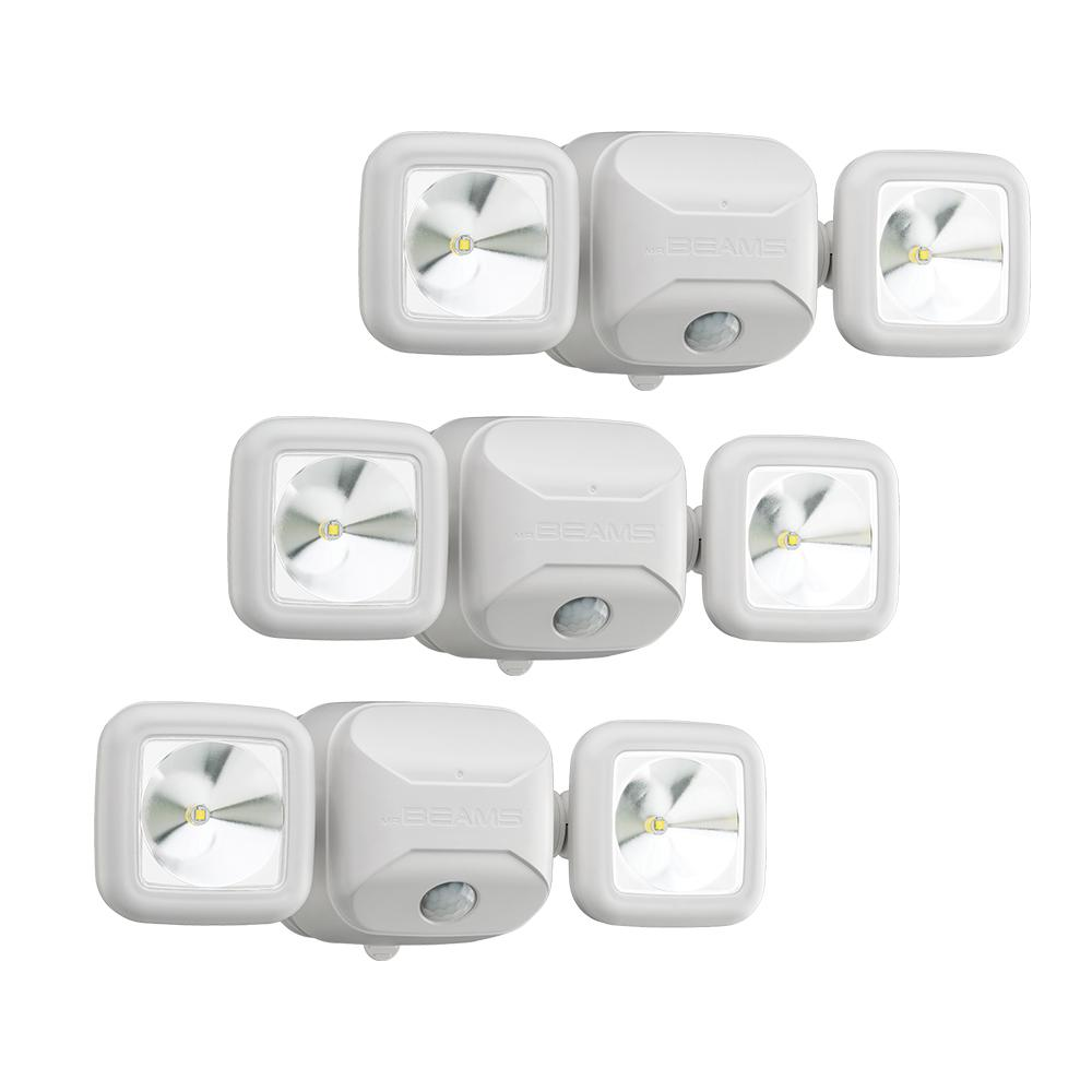 Outdoor Flood Lights Wont Turn Off: Mr Beams Wireless 140-Degree White Motion Sensing Outdoor