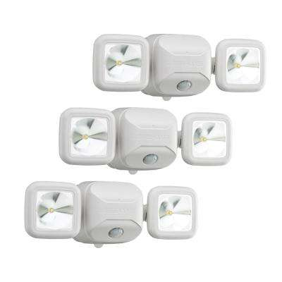 Wireless 140-Degree White Motion Sensing Outdoor Integrated LED Security Flood Light (3-Pack)