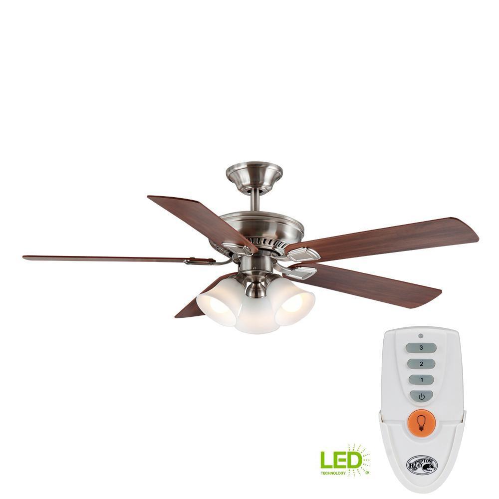 Hampton Bay Gazebo 52 in. LED Indoor/Outdoor Natural Iron ...