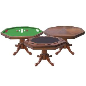 Hathaway Kingston Walnut 3-in-1 Poker Table by Hathaway