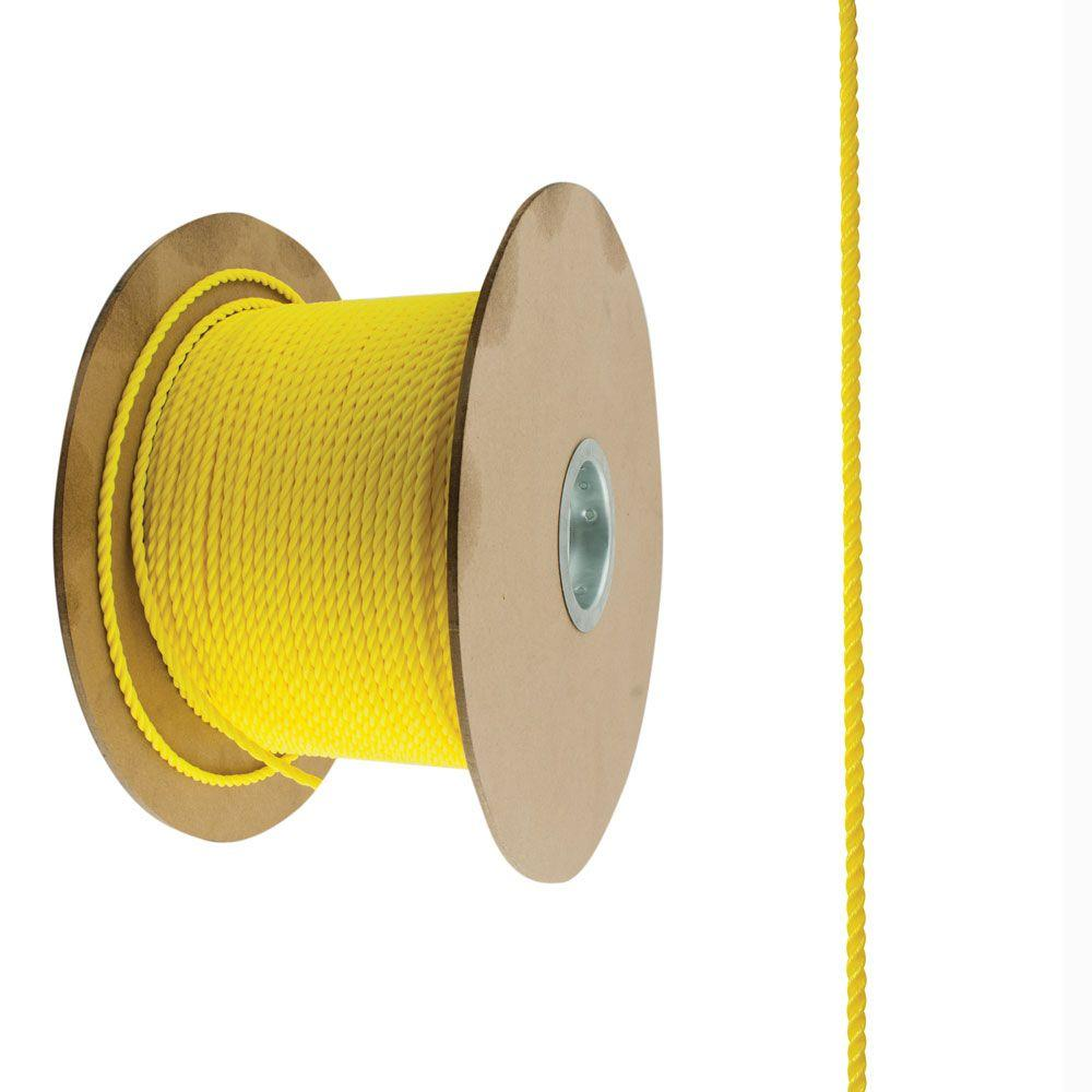 1/4 in. x 800 ft. Yellow Twisted Polypropylene Rope