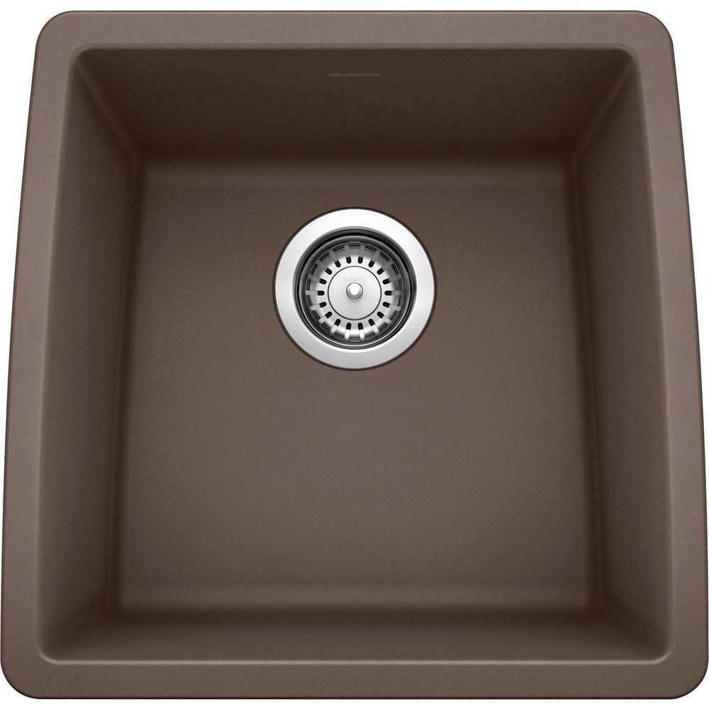 PERFORMA SILGRANIT Brown Granite Composite 18 in. Undermount Bar Sink