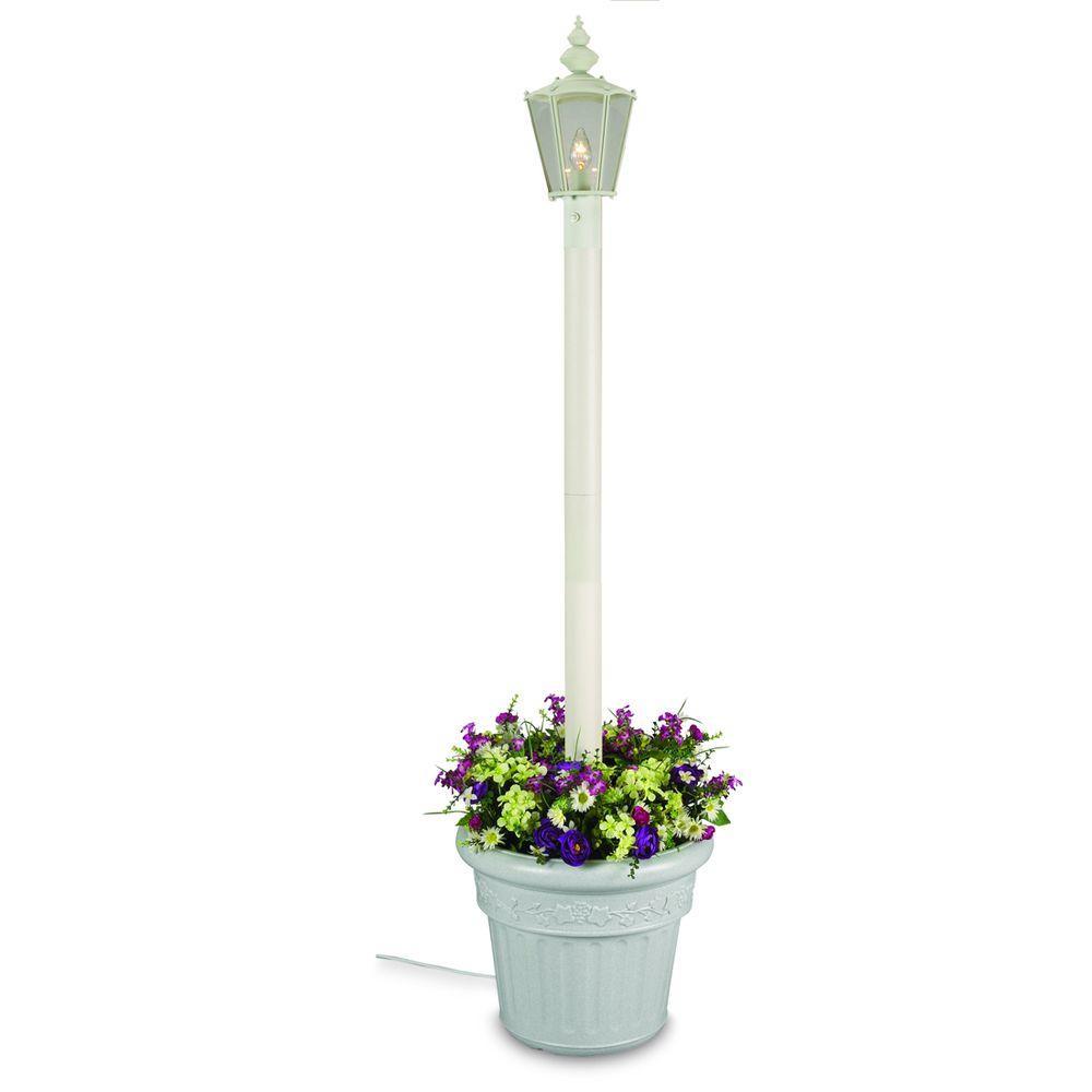 Cambridge Single Lantern Planter/White
