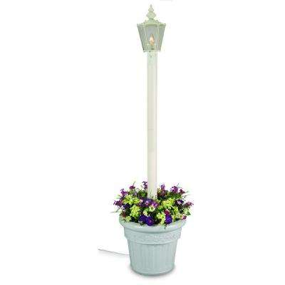 Cambridge Single Lantern Planter/White