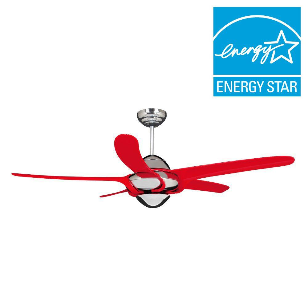 Vento uragano 54 in indoor chrome ceiling fan with 5 mahogany indoor chrome ceiling fan with 5 mahogany blades k 00073 the home depot mozeypictures Image collections