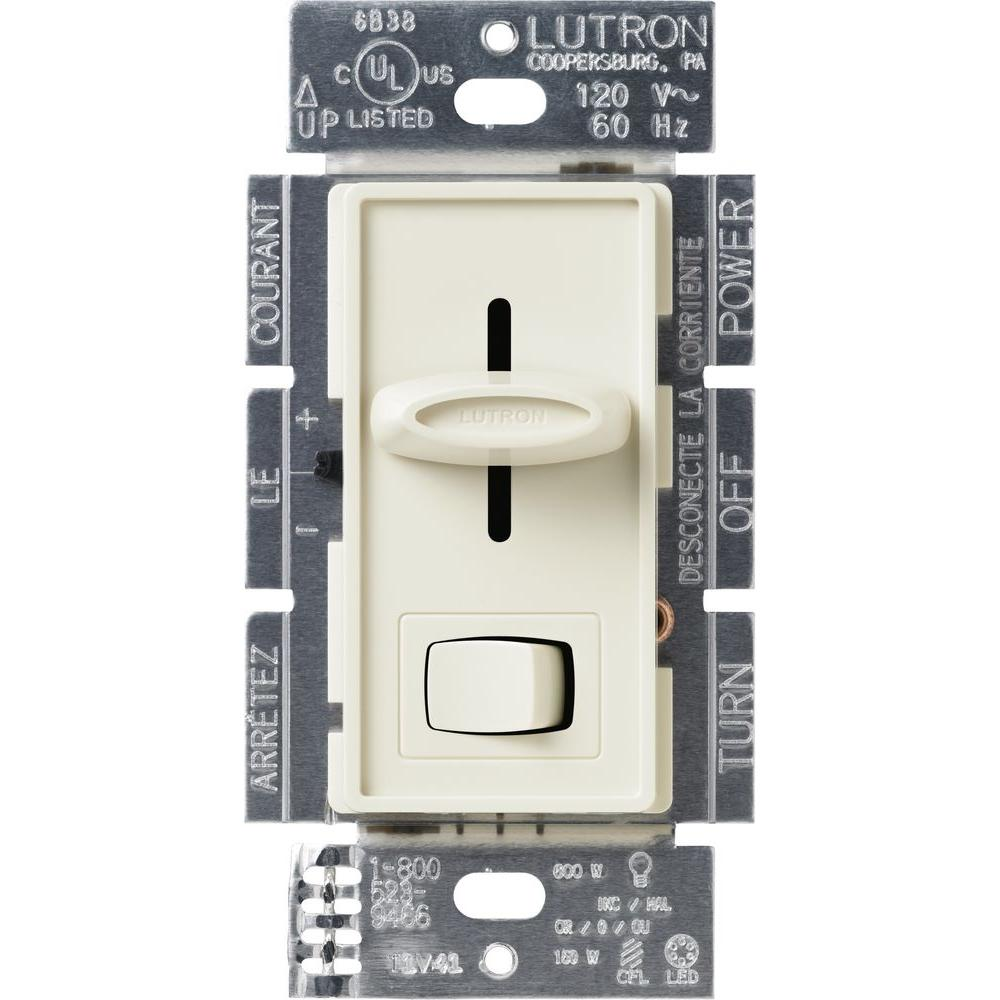 Lutron Skylark Cl Dimmer Switch For Dimmable Led Halogen And On 3way Light Incandescent Bulbs Single 3