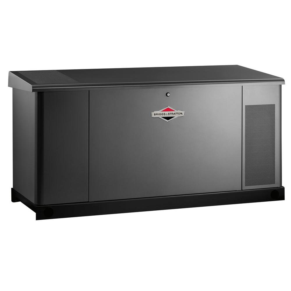 Briggs & Stratton 25,000-Watt Automatic Liquid Cooled Standby Generator with 400 Amp/Dual 200 Amp Transfer Switch - Single Phase