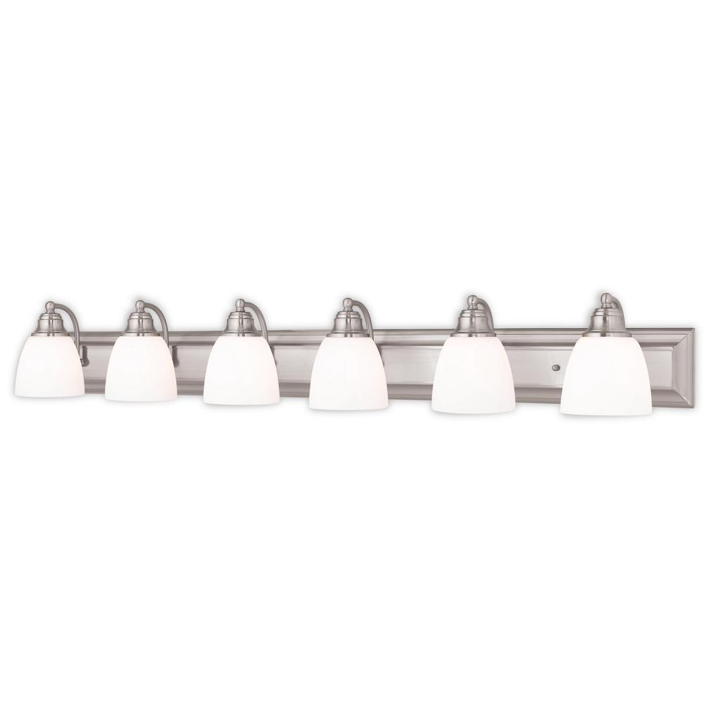Livex Lighting Springfield 6 Light Brushed Nickel Bath
