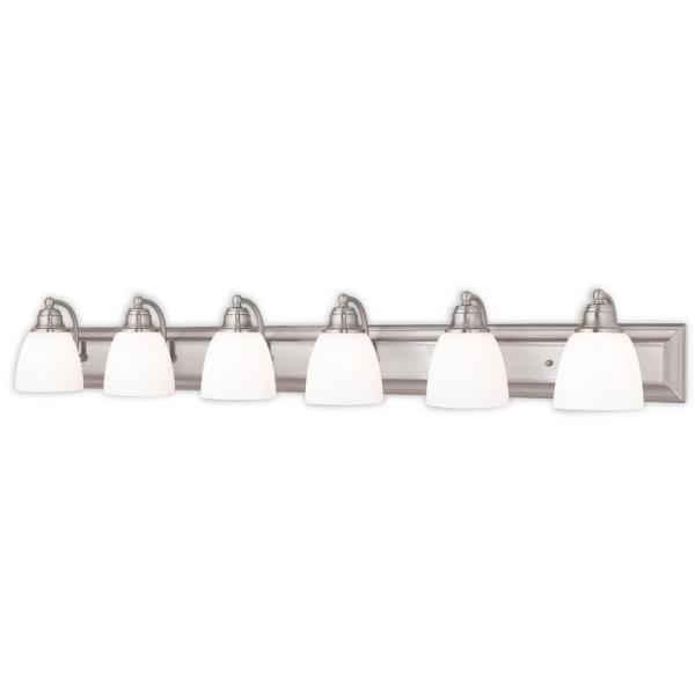 Springfield 6-Light Brushed Nickel Bath Light
