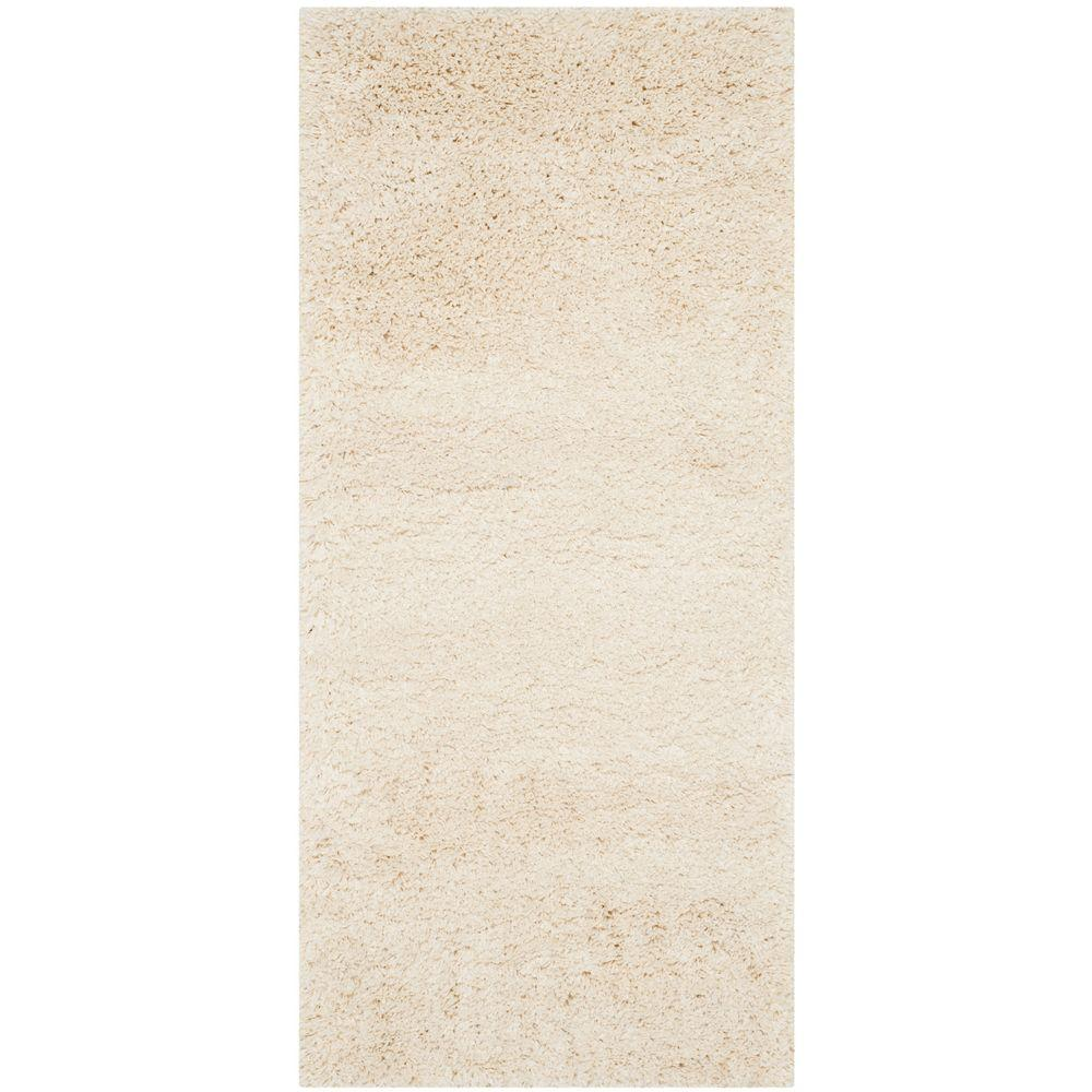 California Shag Ivory 2 ft. 3 in. x 7 ft. Runner