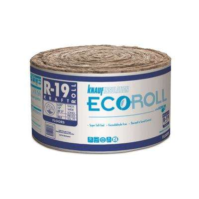 R-19 Kraft Faced Fiberglass Insulation Roll 15 in. W x 39.16 ft. L