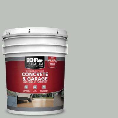 5 gal. #PFC-62 Pacific Fog Self-Priming 1-Part Epoxy Satin Interior/Exterior Concrete and Garage Floor Paint