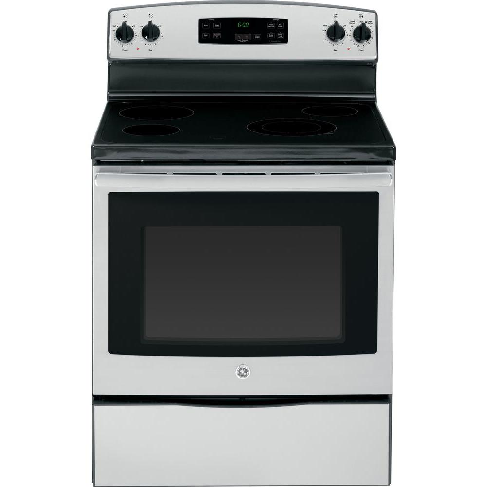 GE 5.3 cu. ft. Electric Range in Stainless Steel