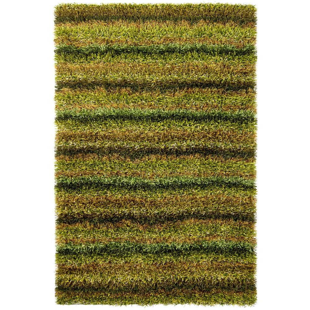 Kubu Green/Brown 9 ft. x 13 ft. Indoor Area Rug