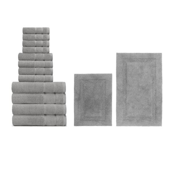 Belle Haven And Ton 14 Piece Gray