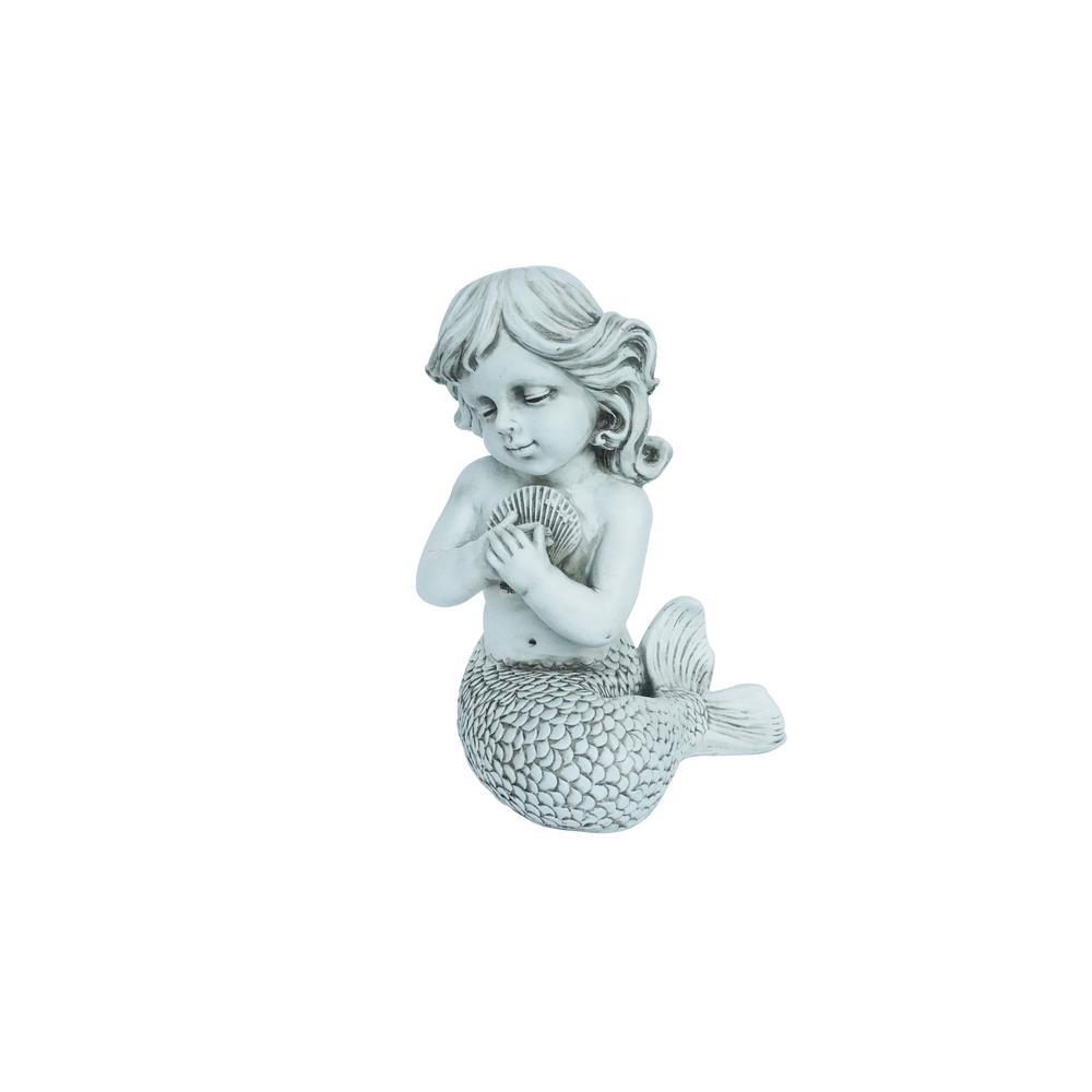 Mermaid Kneeling Holding Shell