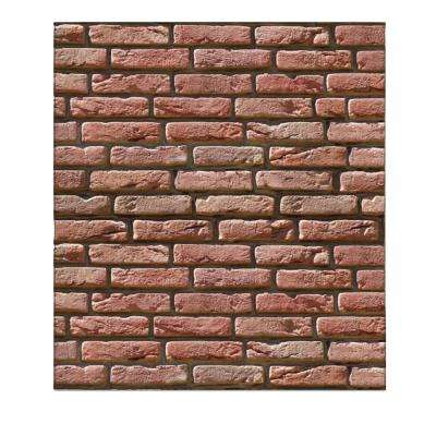 Falkirk Jura 3/10 in. x 28 in. x 30 in. Rouge Rose Faux Bricks PE Foam Peel-and-Stick Wall Panel (5-Pack)
