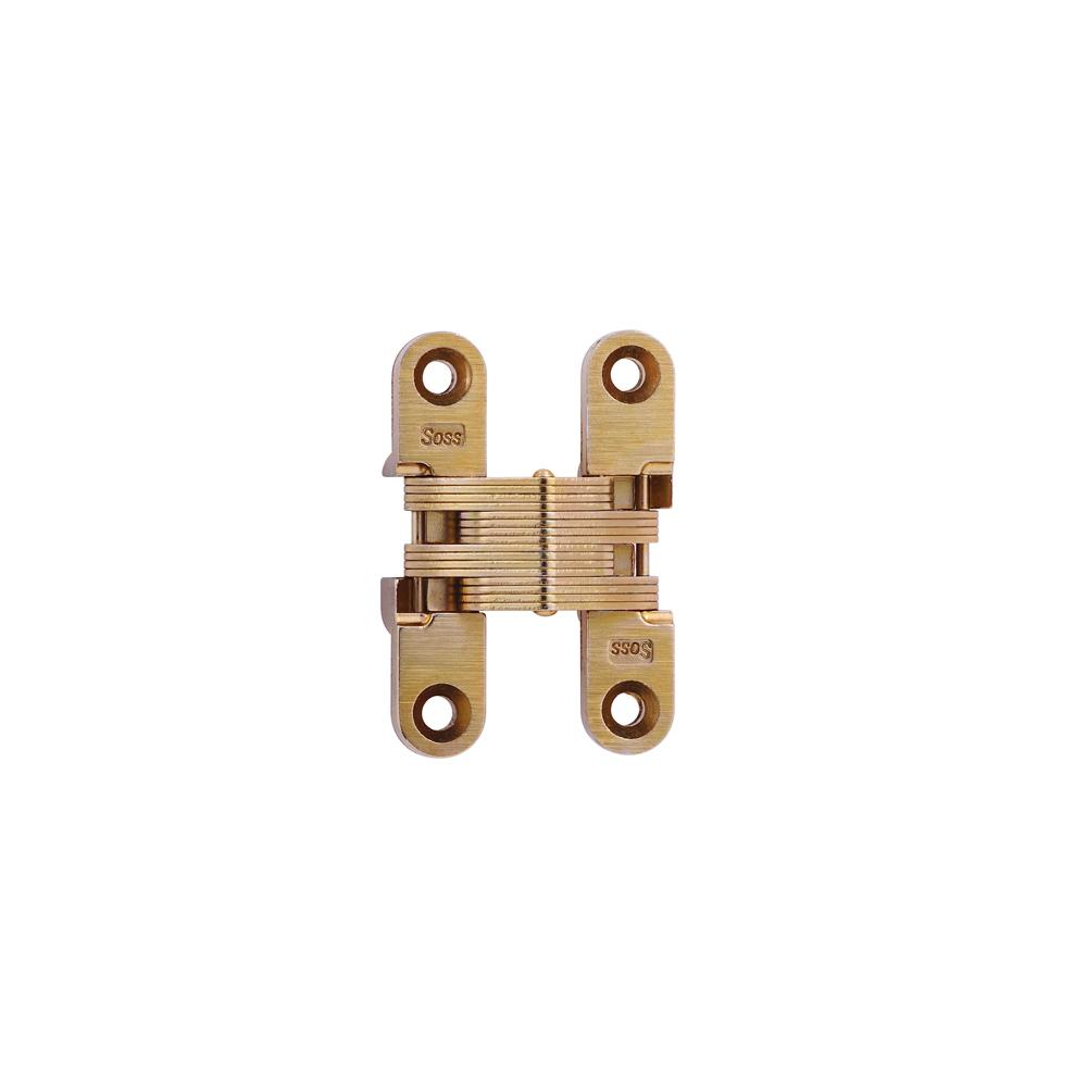 Soss 1 2 In 2 3 8 In Satin Brass Invisible Hinge 205us4