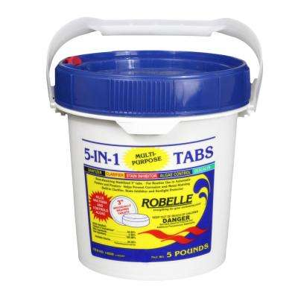 5 lb. Pool 5-In-1 Multi-Purpose 3 in. Chlorinating Tabs
