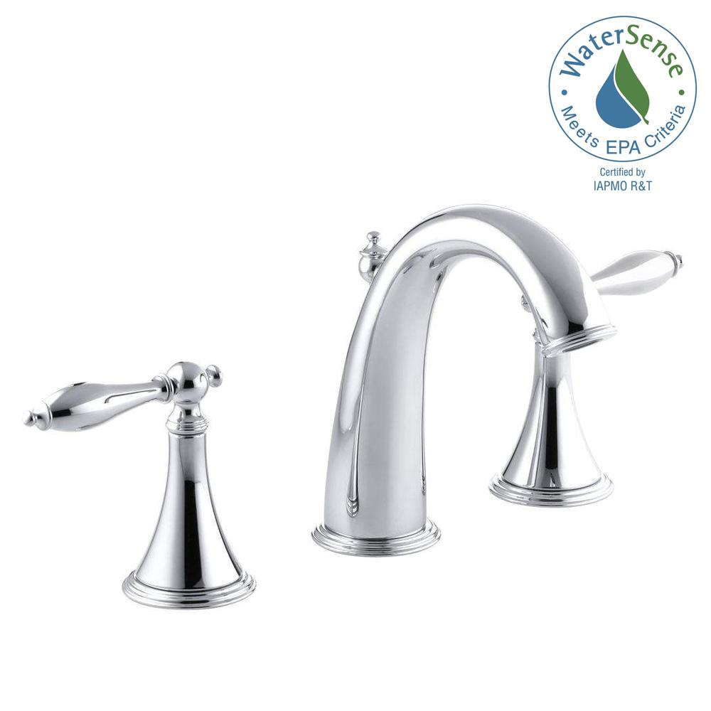 Kohler Finial Traditional 8 In Widespread 2 Handle High Arc