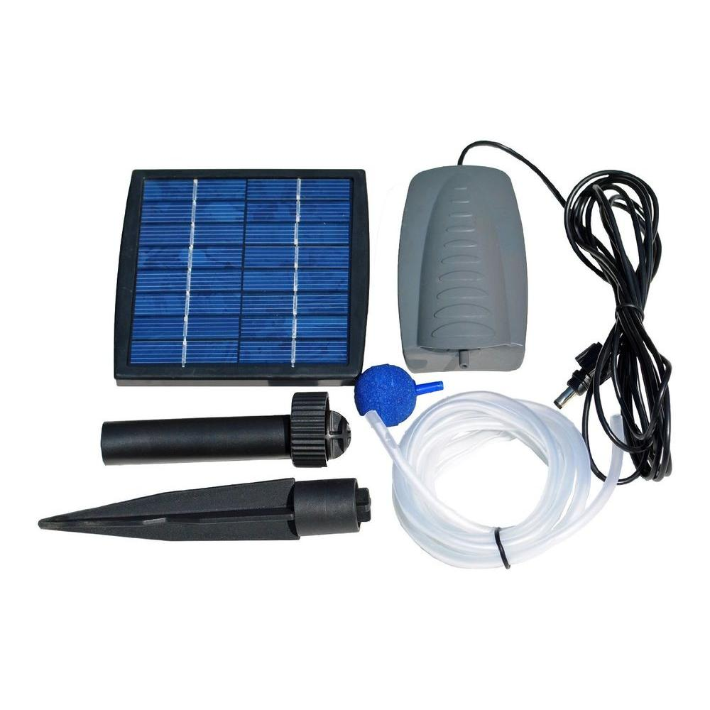 Solarrific solar air pump kit for fish pond g3035 the for Koi pond kits home depot