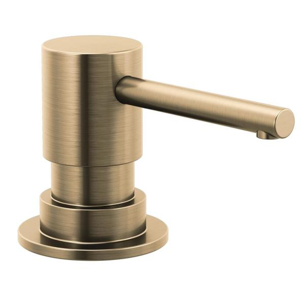 Trinsic Deck Mount Metal Soap Dispenser in Champagne Bronze