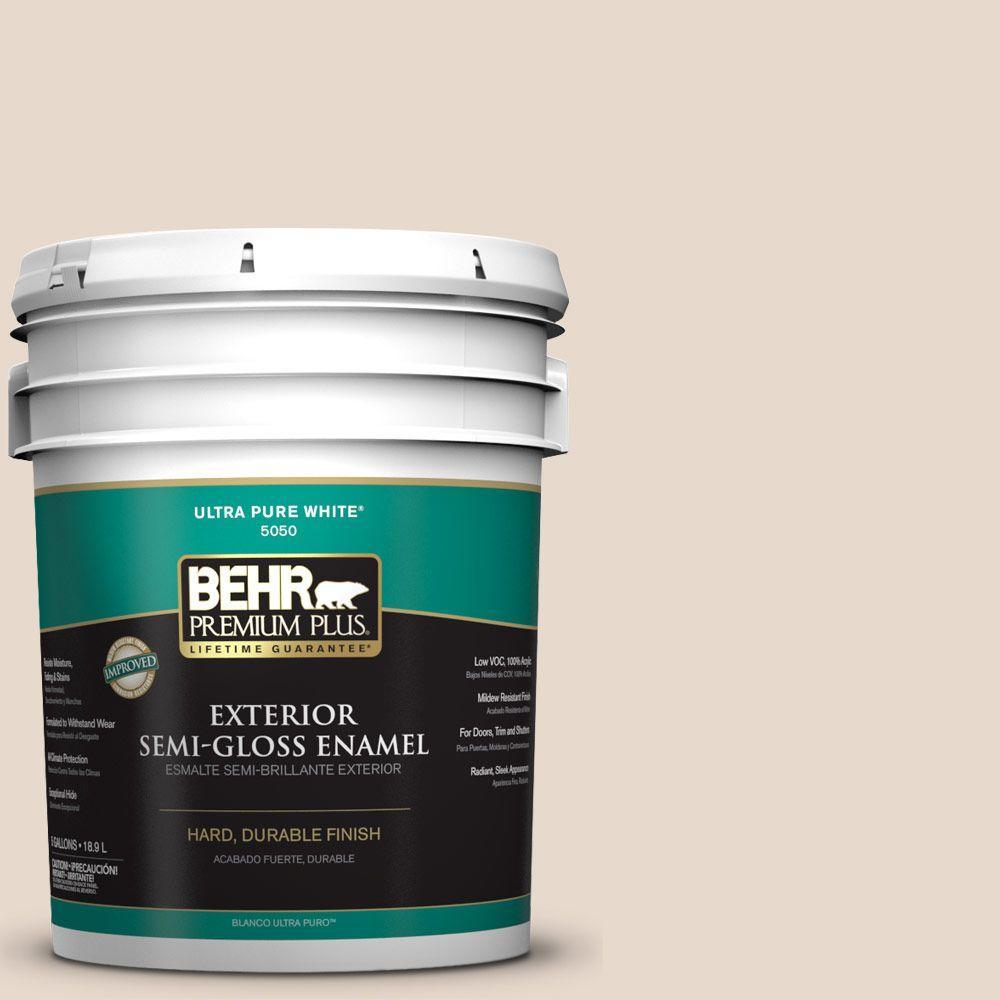 5-gal. #N240-1 Cascade Beige Semi-Gloss Enamel Exterior Paint