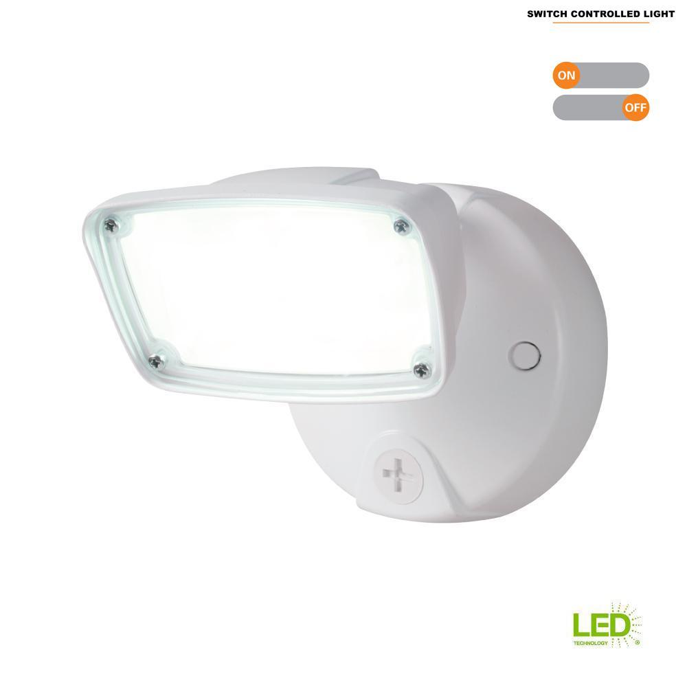 Halo 17-Watt White Outdoor Integrated LED Small-Head
