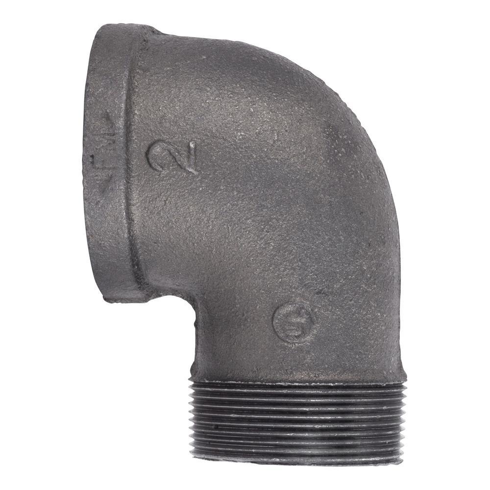 2 in. Black Iron 90° Street Elbow