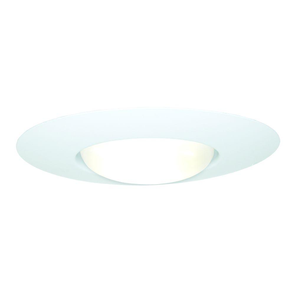 Halo e26 series 6 in white recessed ceiling light open trim with white recessed ceiling light open trim with socket support 300p the home depot arubaitofo Images