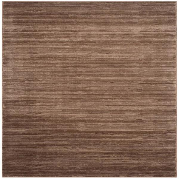 Vision Brown 4 ft. x 4 ft. Square Area Rug