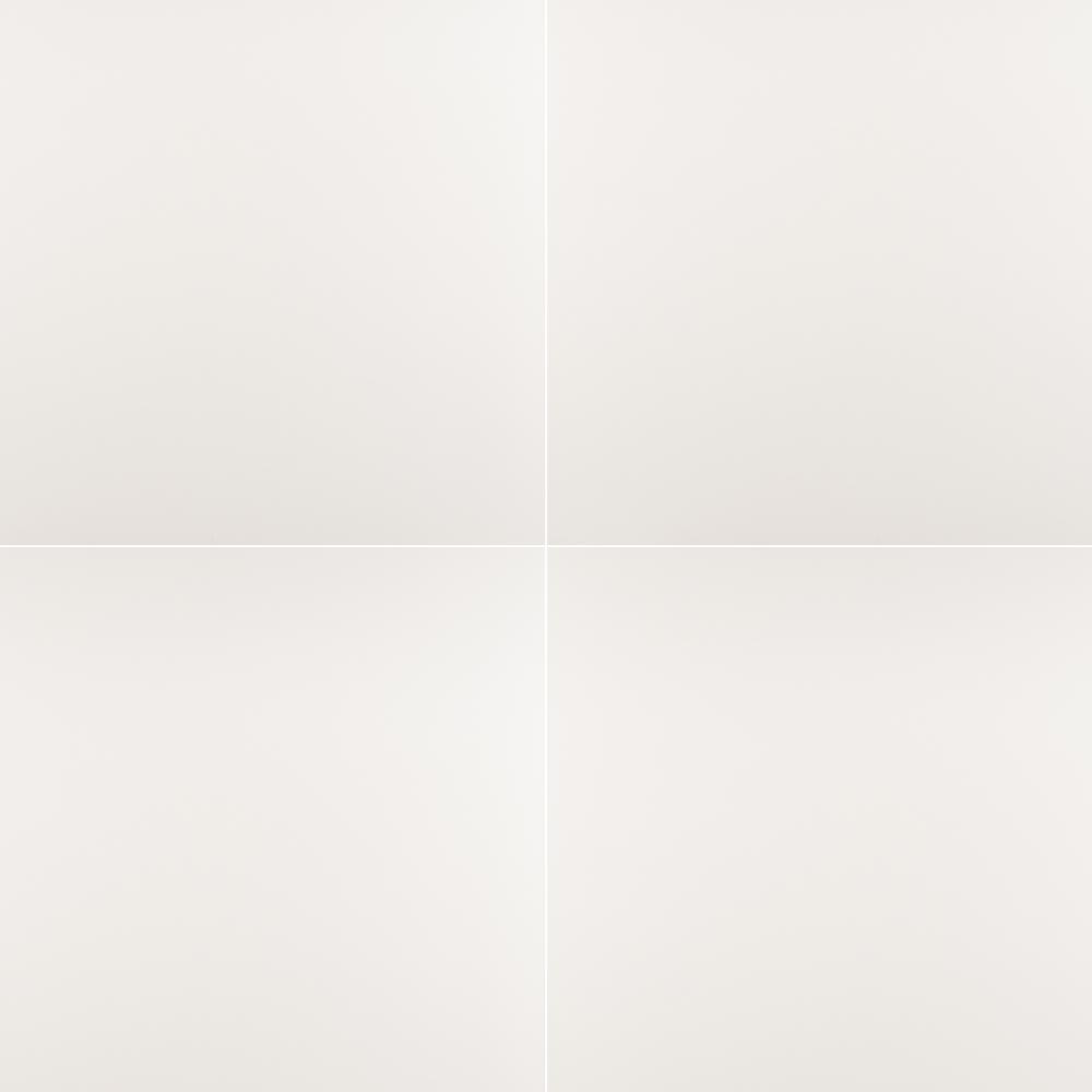 Msi White 24 In X 24 In Matte Porcelain Floor And Wall Tile 16 Sq Ft Case Nwhi2424 The Home Depot