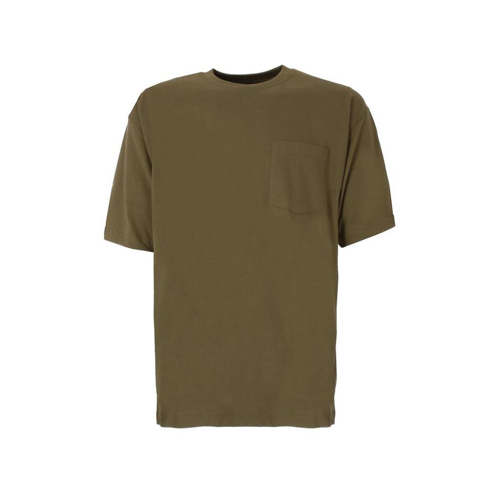 48a0cc009c3 Men's XX-Large Tall Light Olive Cotton and Polyester Heavy-Weight Pocket  T-Shirt
