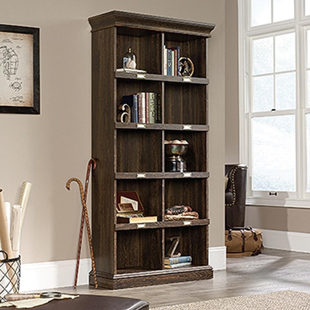 Barrister Lane Iron Oak Tall Cubbyhole Bookcase