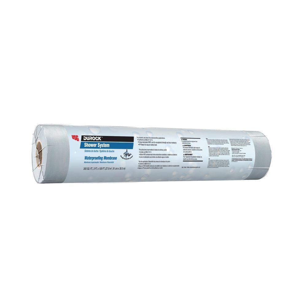 DUROCK 3 ft. x 100 ft. x 0.01 in. Waterproofing Membrane-170146 ...