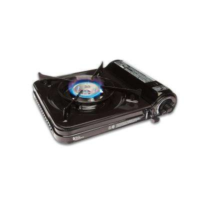 9,000-BTU Portable Butane Stove with Piezo Electronic Ignition and Adjustable Flame
