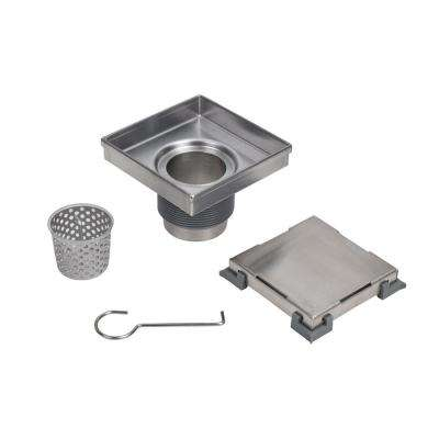 Designline 4 in. x 4 in. Square Drain Tile-in Grate