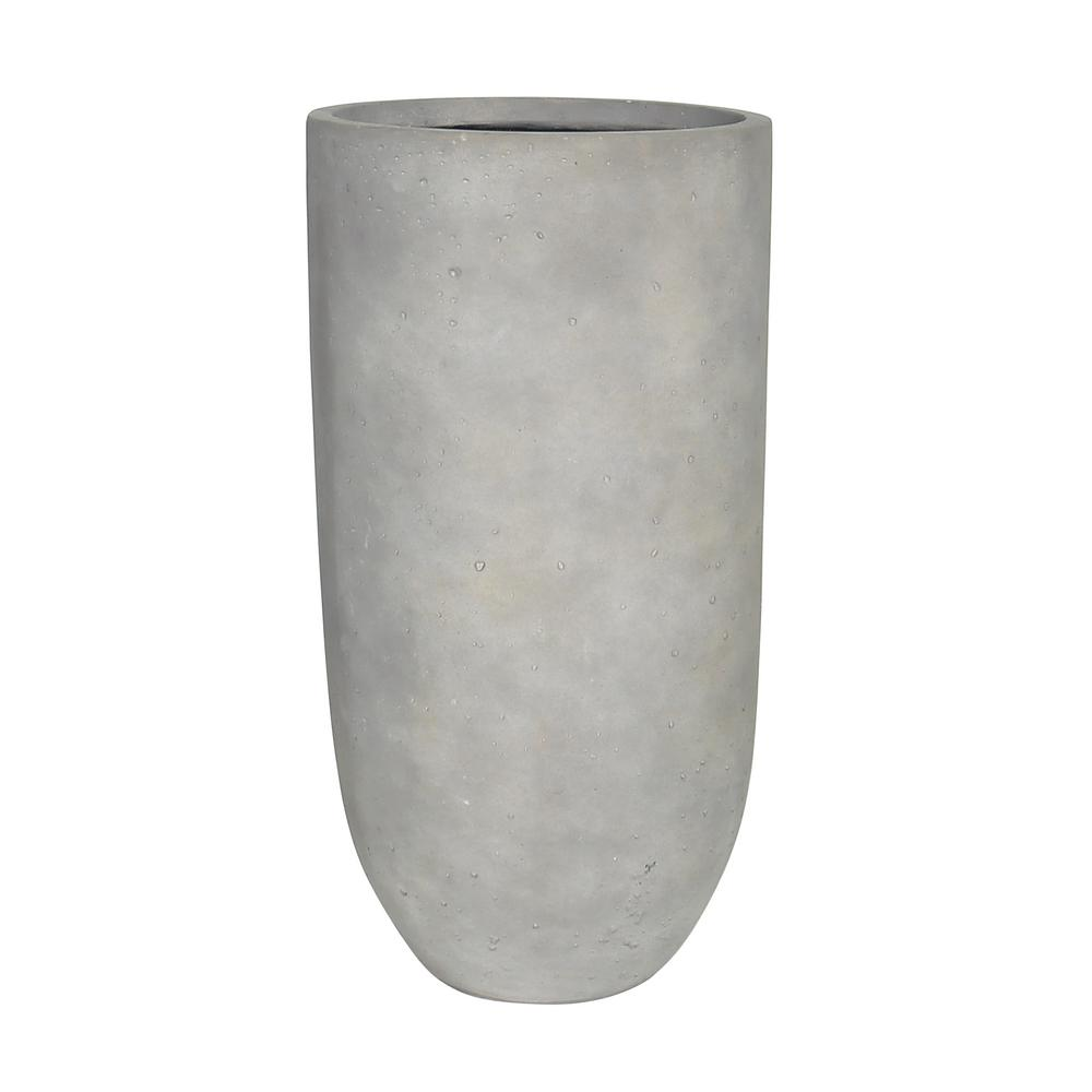 unbranded 25.5 in. Composite Tall Crucible in Smooth Cement